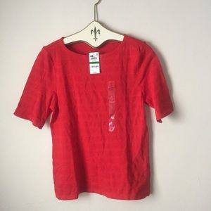 NWT red 100% pima cotton top